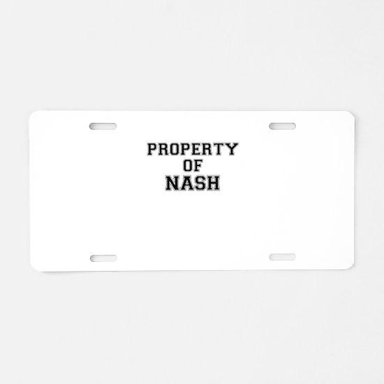 Property of NASH Aluminum License Plate
