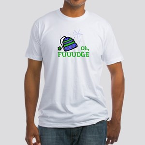 Oh, FUUUDGE! Fitted T-Shirt