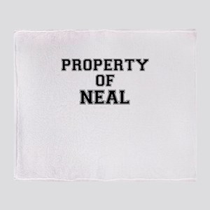 Property of NEAL Throw Blanket