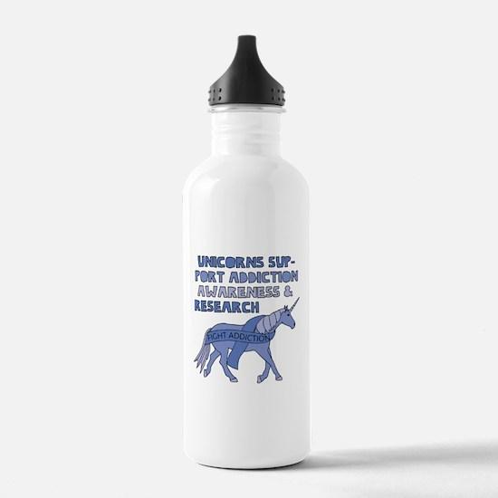 Unicorns Support Addic Water Bottle