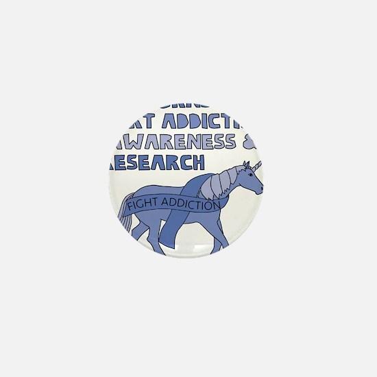 Unicorns Support Addiction Awareness Mini Button