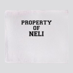Property of NELI Throw Blanket