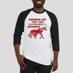 Unicorns Support Aids Awareness & Baseball Jersey