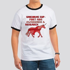 Unicorns Support Aids Awareness & Research T-Shirt