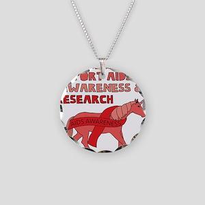 Unicorns Support Aids Awaren Necklace Circle Charm