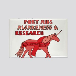 Unicorns Support Aids Awareness & Research Magnets