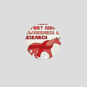 Unicorns Support Aids Awareness & Rese Mini Button