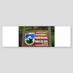 Torres del Paine Sign, Chile Bumper Sticker