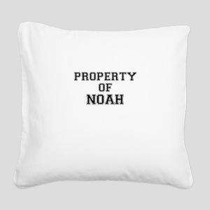 Property of NOAH Square Canvas Pillow