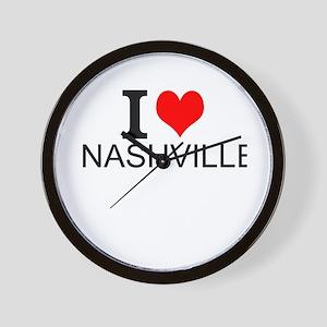 I Love Nashville Wall Clock
