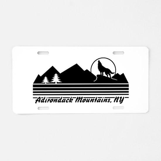 Adirondack Mountains NY Aluminum License Plate