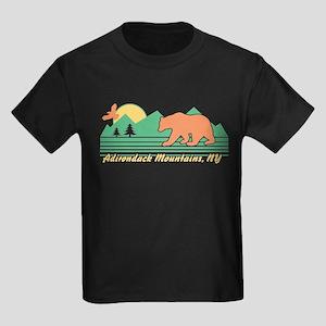 Adirondack Mountains NY Kids Dark T-Shirt