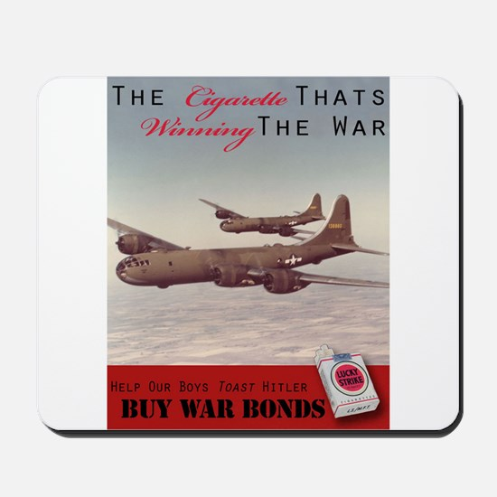 World War 2 Lucky Strike Poster Mousepad