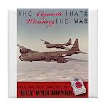 World War 2 Lucky Strike Poster Tile Coaster