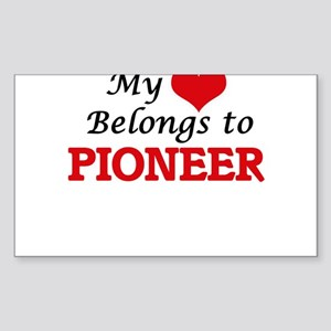 My Heart Belongs to Pioneer Massachusetts Sticker