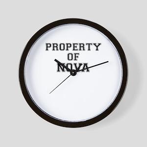 Property of NOVA Wall Clock