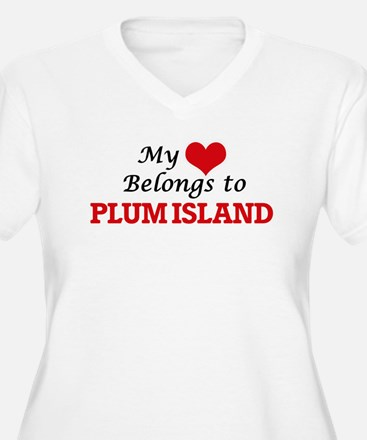 My Heart Belongs to Plum Island Plus Size T-Shirt