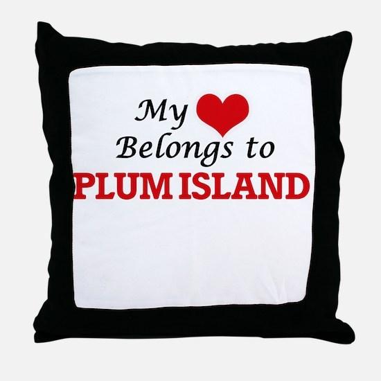 My Heart Belongs to Plum Island Massa Throw Pillow