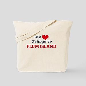 My Heart Belongs to Plum Island Massachus Tote Bag