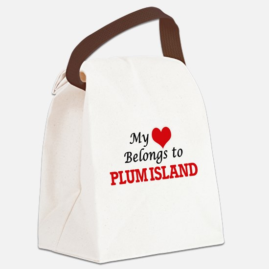 My Heart Belongs to Plum Island M Canvas Lunch Bag