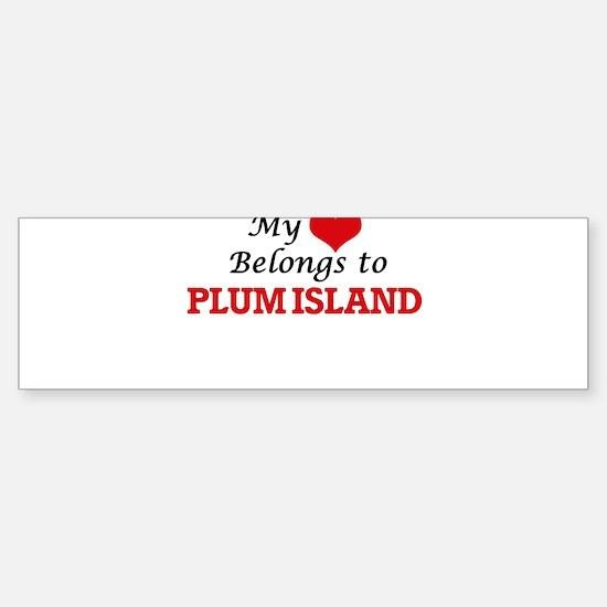 My Heart Belongs to Plum Island Mas Bumper Bumper Bumper Sticker