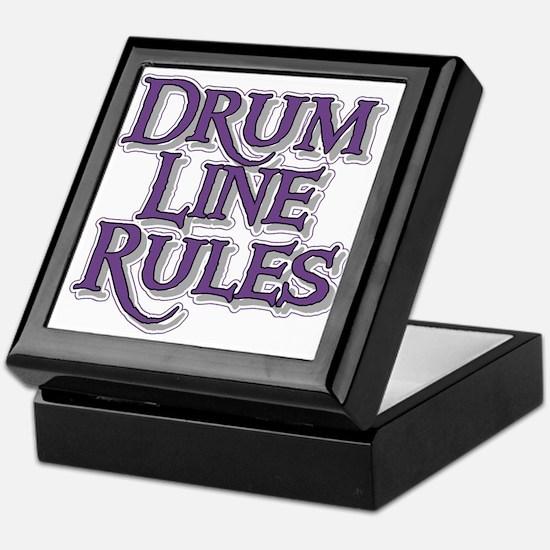 Drum Line Rules Keepsake Box