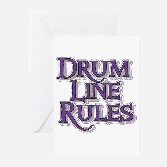 Drum Line Rules Greeting Cards (Pk of 10)