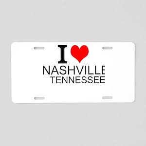 I Love Nashville, Tennessee Aluminum License Plate