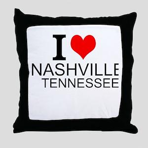 I Love Nashville, Tennessee Throw Pillow