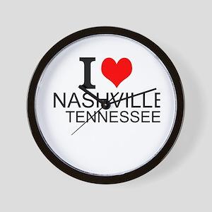 I Love Nashville, Tennessee Wall Clock