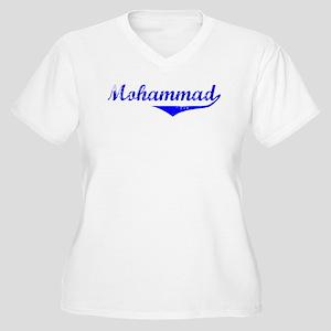 Mohammad Vintage (Blue) Women's Plus Size V-Neck T