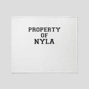 Property of NYLA Throw Blanket
