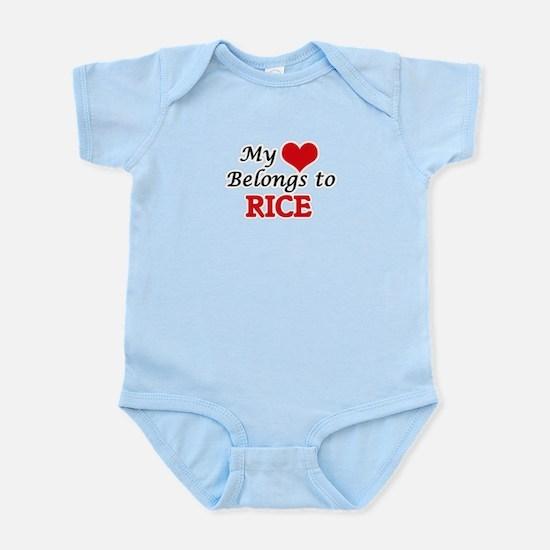 My Heart Belongs to Rice Massachusetts Body Suit