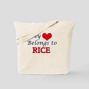 My Heart Belongs to Rice Massachusetts Tote Bag