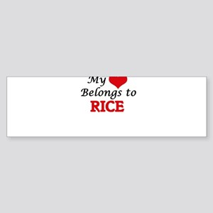My Heart Belongs to Rice Massachuse Bumper Sticker