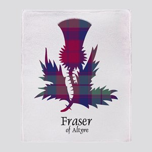 Thistle - Fraser of Altyre Throw Blanket
