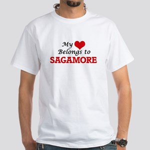 My Heart Belongs to Sagamore Massachusetts T-Shirt