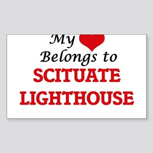 My Heart Belongs to Scituate Lighthouse Ma Sticker