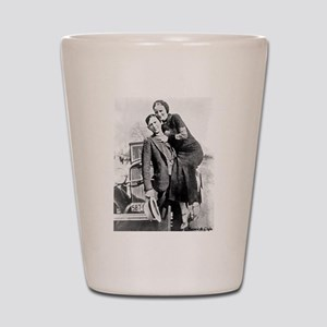 Bonnie and Clyde Shot Glass