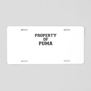 Property of PUMA Aluminum License Plate
