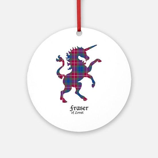 Unicorn-FraserLovat Round Ornament