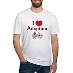 I Love Adoption (Korea/USA) Fitted T-Shirt