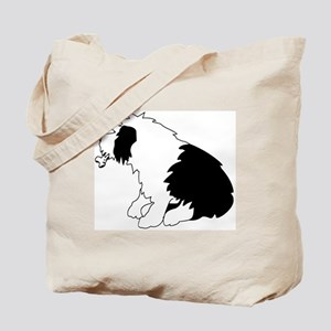 Old English Sheepdog with bone Tote Bag