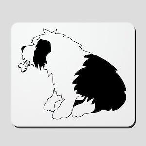 Old English Sheepdog with bone Mousepad
