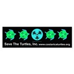 Save The Turtles Bumper Bumper Sticker