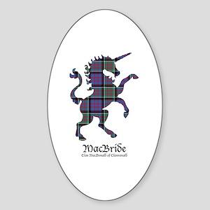Unicorn-MacBride.MacDonaldClanranal Sticker (Oval)