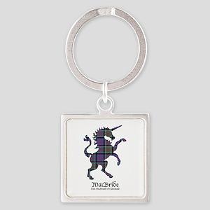 Unicorn-MacBride.MacDonaldClanrana Square Keychain