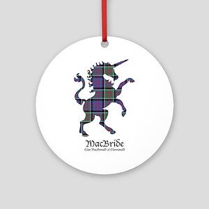 Unicorn-MacBride.MacDonaldClanranal Round Ornament