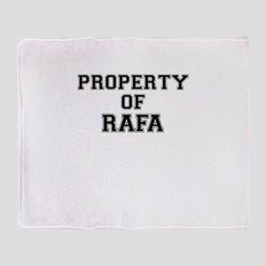 Property of RAFA Throw Blanket