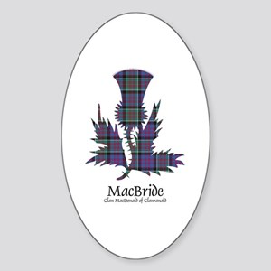 Thistle-MacBride.MacDonaldClanranal Sticker (Oval)